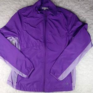 Purple Full Zip Vented Windbreaker Jacket Large